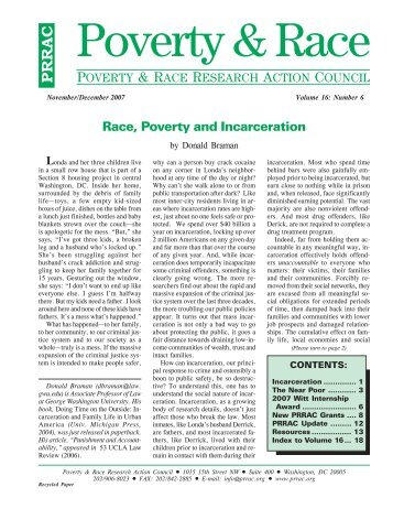 Race, Poverty and Incarceration - League of Women Voters of South ...