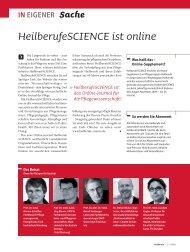 HeilberufeSCIENCE ist online