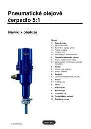 Pneumatické olejové čerpadlo 5:1 Návod k obsluze - Pressol
