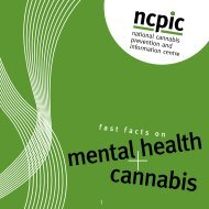 mental health - National Cannabis Prevention and Information ...