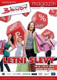 20. 8. – 23. 9. 2012 ZPÁTKY DO ŠKOLY - Bondy Centrum