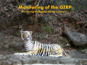 GTF: Supporting Monitoring of the GTRP - Global Tiger Initiative