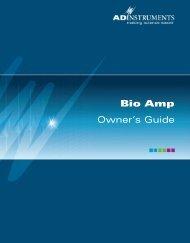 Bio Amp Owner's Guide - ADInstruments