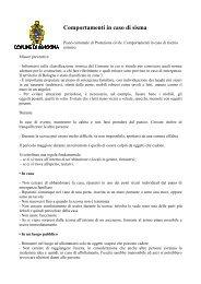 Opuscolo del Comune di Bologna - Terzaet@.com