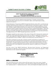 INDOT Standard Specifications, Section 402 - Asphalt Pavement ...