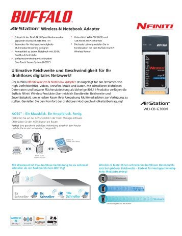 Wireless-N Notebook Adapter Ultimative Reichweite und ... - Buffalo