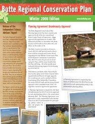 Winter 2008 Newsletter - Butte Regional Conservation Plan
