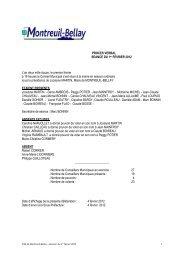 procès verbal du 1er février 2012 - Montreuil-Bellay
