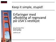 Keep it simple stupid - Vand i Byer
