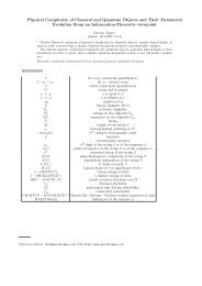 Physical Complexity of Classical and Quantum Objects and Their ...