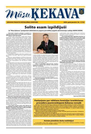 Nr. 1 2009. gada janvāris - Ķekavas pagasts