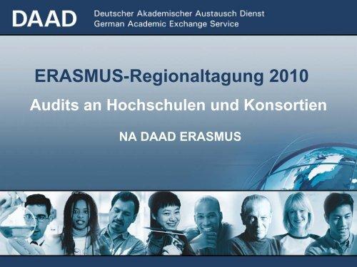 NA DAAD ERASMUS Audits an Hochschulen und Konsortien