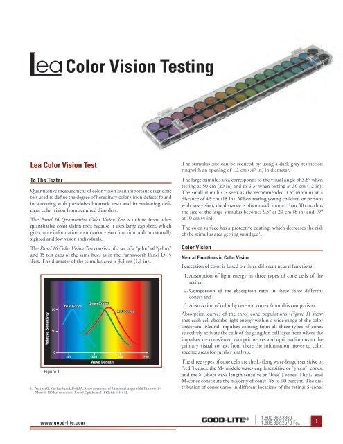 2d56ad777f1 Color Vision Testing - Good-Lite Company