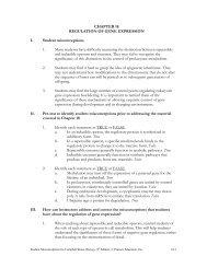 CHAPTER 18 REGULATION OF GENE EXPRESSION I. Student ...