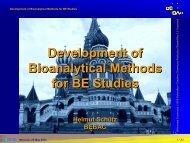 Development of Bioanalytical Methods for BE Studies - BEBAC ...