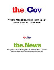 """Youth Obesity: Schools Fight Back"" Social Science Lesson Plan - PBS"