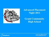 Advanced Placement Night 2011 Grant Community High School