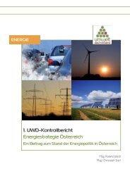 1. UWD-Kontrollbericht zur Energiestrategie Österreich