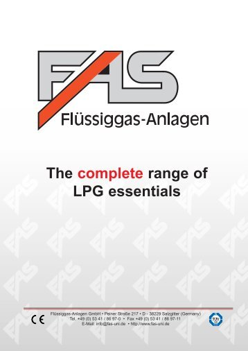 LPG Products Catalogue - Cross Technical Services