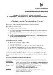 Arbeitsgemeinschaft Versicherungsrecht - DAV Vers