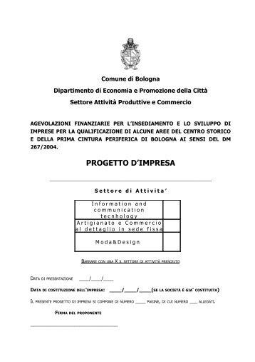 Progetto di impresa 2013 - Comune di Bologna