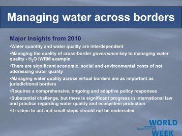 Bild 1 - World Water Week