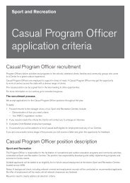 Casual Program Officer application criteria - NSW Sport and ...
