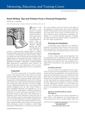 Grant Writing: Tips and Pointers From a Personal Perspective