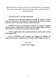 decreto legge bersani 2006