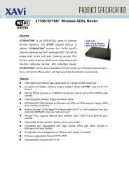 Xavi X7768R ADSL/2/2+ 4-Port Wireless 802.11g Modem Router