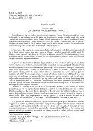 Luigi Allegri Teatro e spettacolo nel Medioevo - Dipartimento di ...