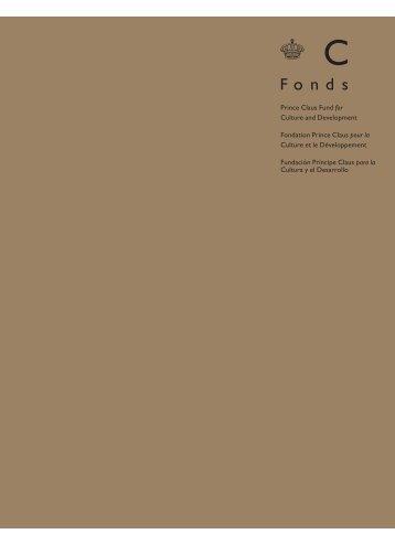 30r364 boek.qxd:awards book 11 - Prince Claus Fund