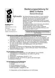 Bedienungsanleitung für BMS S-Reihe