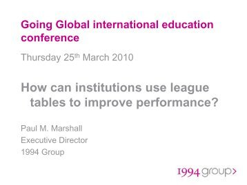 Paul Marshall presentation (pdf) - Internationalising Higher Education