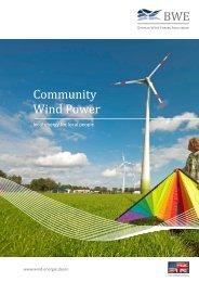 Community Wind Power - Bundesverband WindEnergie eV