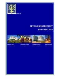 BETEILIGUNGSBERICHT Berichtsjahr 2010 - Hagen