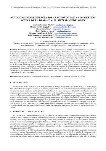 autoconsumo de energía solar fotovoltaica con - Archivo Digital UPM