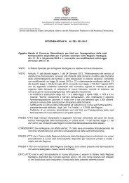 Determinazione n. 46 del 25/01/2013 - Regione Autonoma della ...