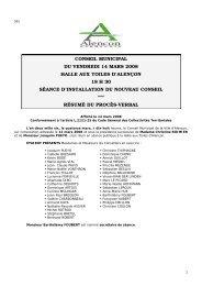 Résumé de PV14-03-08 - Alençon