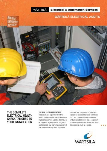Wärtsilä Electrical Audits