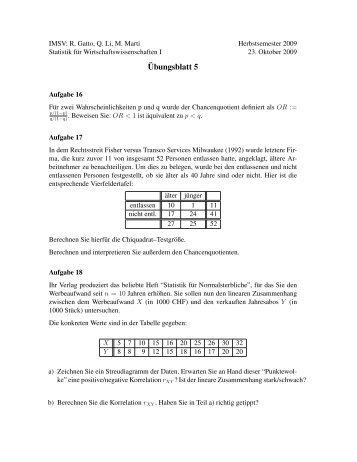 ¨Ubungsblatt 5