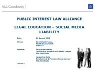 public interest law alliance legal education – social ... - Pelorous
