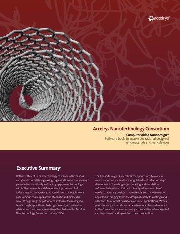 Nanotechnology Consortium - Accelrys