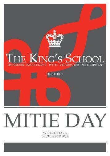 WEDnEsDAY 5 sEpTEMbEr 2012 - The King's School