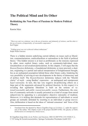 The Political Mind and Its Other - Páxinas persoais - USC