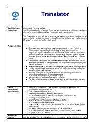 Translator - Plan Canada