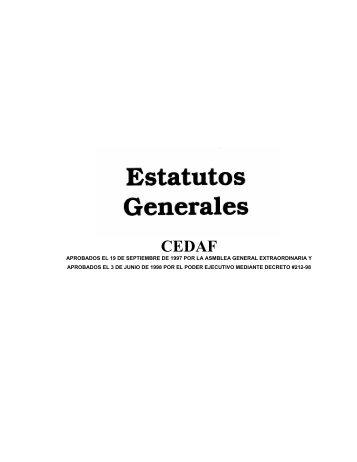 Estatutos Generales - CEDAF