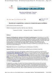 genes candidatos.pdf - Universidad de Costa Rica