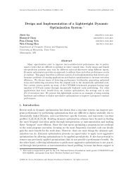 Design and Implementation of a Lightweight Dynamic Optimization ...
