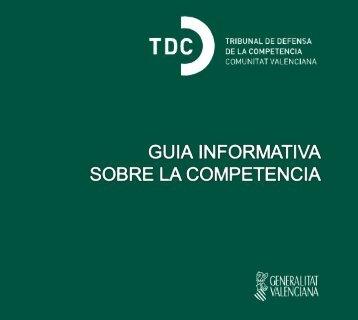 Guía Informativa sobre la Competencia - El conseller de Economía ...